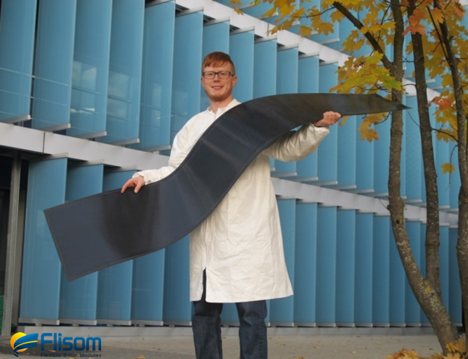 Lightweight flexible solar module manufactured by Flisom